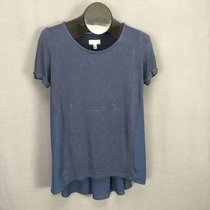 14th & Union Knit Shirt Top Small Blue Women